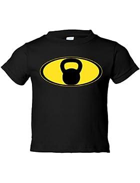 Camiseta niño Crossfit kettlebell Batman