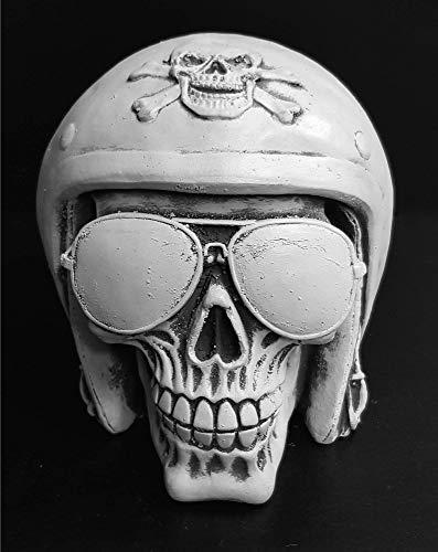 Deko Totenkopf Biker handgefertigt frostfest skull schädel gothic
