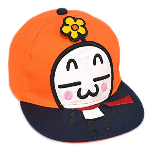 zhuzhuwen Kinderkarikaturpuppe flach entlang Baseballmützenbaby-Hip-Hop-Kappenjungenhut 4 Kind -