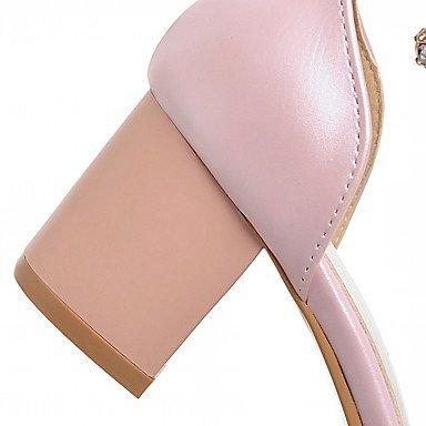 LvYuan Da donna Sandali Finta pelle PU (Poliuretano) Estate Autunno Footing Perle di imitazione Quadrato Bianco Nero Rosa 2,5 - 4,5 cm Black