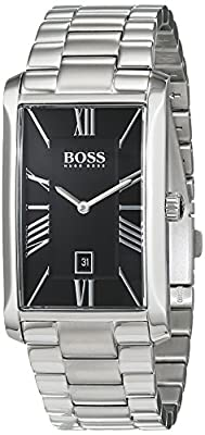 Hugo Boss Admiral Mens Quartz White Analogue Classic Silver Stainless Steel Bracelet 1513439