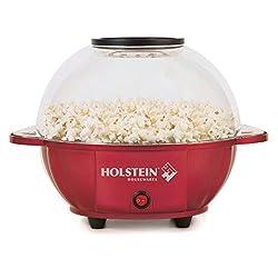 Holstein Housewares HU-09009R-M Kettle Popcorn Maker - Red