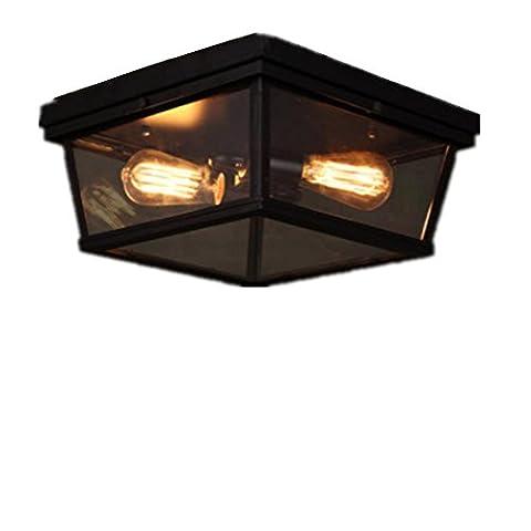 ZHIYUAN Retro-Studie Lampe Schlafzimmer Ideen/personalisierte industrielle Wind Schmiedeeisen