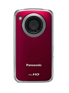 Panasonic HM-TA2 HD Mobile Camera - Red (8MP Stills) 3-inch Touchscreen (Tripod Included)
