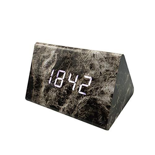 HCFKJ COOL, Moderne Digital LED 3D Tisch Schreibtisch Nacht Wanduhr Alarm Uhr Digital Clock Display (SBK)