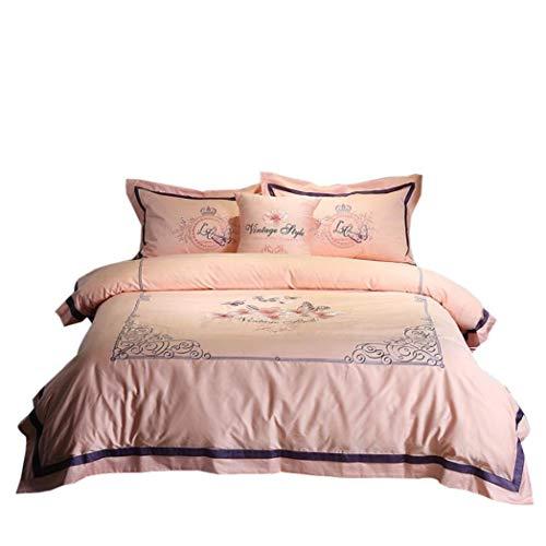 HSBAIS Winter Bettwäsche Tröster Set, 60 Satin Floral Jacquard Luxus Qualität Premium Bettwäsche-Kollektion, Reißverschluss schützt Ihren Tröster,A1_King 220 * 240cm -