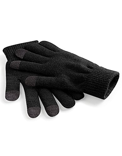 Beechfield B490.Blk.M4S Touchscreen Smart Handschuhe, Schwarz, Small/Medium/Large/X-Large