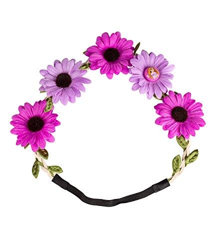 nzel Blumenhaarband, mit lila Blumen, Karneval/Fasching/JGA, Kostüm (306-171) ()