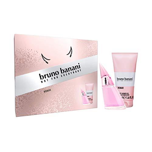 Bruno Banani Fragrance Woman Premium Geschenkset - Erfrischendes Eau de Toilette und Duschgel mit spritzig-süßem Duft - Für die selbstbewusste Frau - 1 x 20 ml & 1 x 50 ml