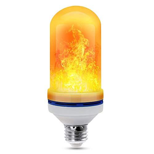 �hlampen - 4 Modi LED-Feuerflamme mit umgedrehtem Effekt, simulierte dekorative Leuchten Vintage Flaming Lamp für Halloween/Weihnachtsdekoration ()