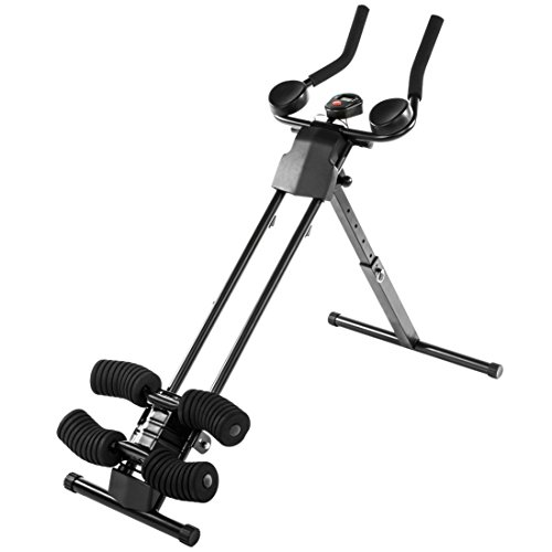 Ultrasport Ultra 150 Curved - Fitness Power AB Trainer - Aparato de abdominales, plegable