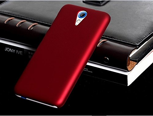 WOW Imagine™ Rubberised Matte Hard Case Back Cover for HTC Desire 620 620G Dual - Maroon Wine Red