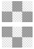 VeloVendo - Tappeto Puzzle con Certificato CE in soffice Schiuma Eva | Tappeto da Gioco per Bambini | Tappetino Puzzle (Set Stelle Bianche + Grigie)