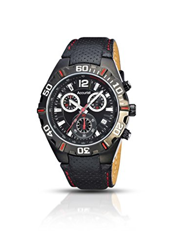 Accurist-Mens-Quartz-Watch-with-Chronograph-Display-and-Black-Leather-Strap