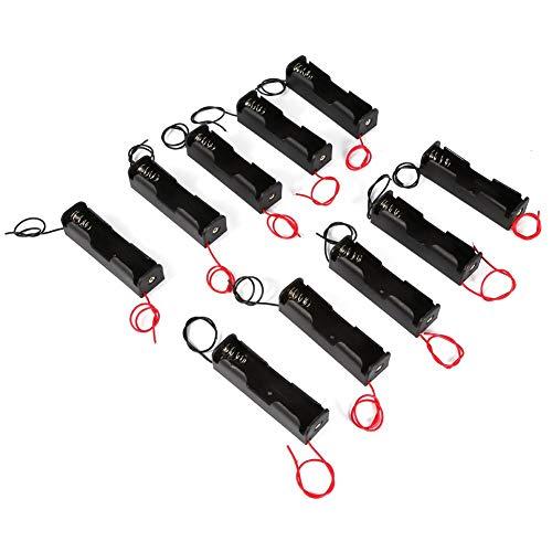 10 unids Clip de Resorte de plástico Caja de la Caja de Almacenamiento del Soporte de la batería para 1 x 18650...