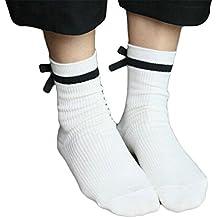 c3488d6631 Calzini da donna cotone OULII design con bowknot casual calze da corte  ragazza Taglia unica (