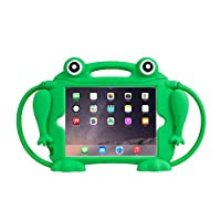 Kids Case for iPad Mini 1 2 3 4 5 - CHIN FAI [Eye Popping Frog] Shockproof Silicone Handle Stand Protective Cover for Apple 5th Generation iPad Mini 2019 and iPad Mini with Retina Display