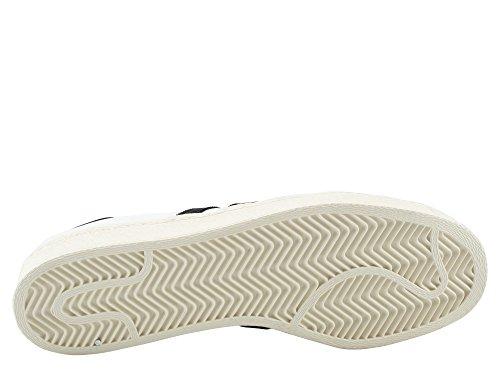 adidas Originals SUPERSTAR 80S Chaussures Mode Sneakers Blanc Bianco-Nero
