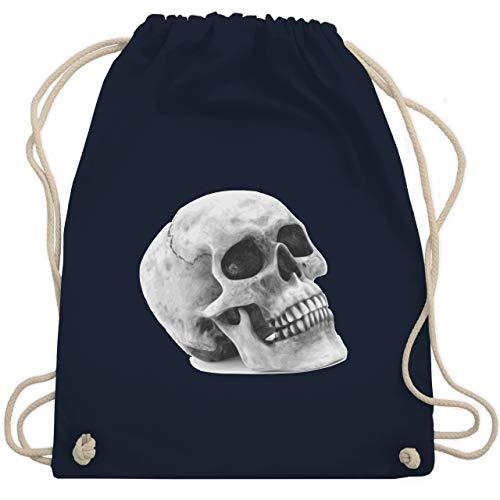 Piraten & Totenkopf - Totenkopf Skull - Unisize - Navy Blau - WM110 - Turnbeutel & Gym Bag