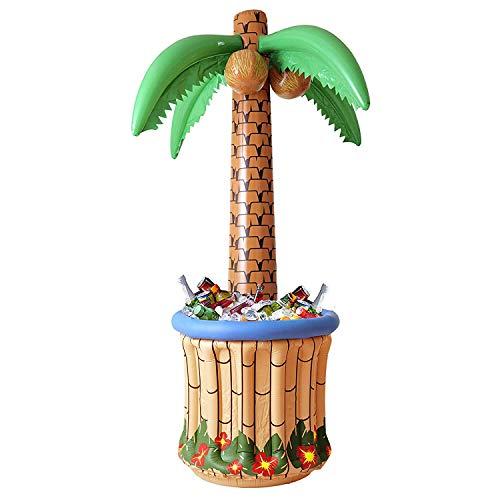 Widmann 2408P - Palme aufblasbar mit Getränkekühler, Circa 182 - Insel Motto Party Kostüm