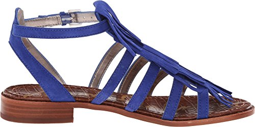 Sam Edelman Sandalen Estelle Wildleder Lederbraun mit Fransen Sailor Blue Kid Suede Leather