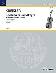 Praeludium and Allegro-in Style of Gaetano Pugnani viola and piano