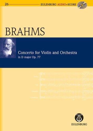 Concerto pour violon et orchestre Opus 77 en Ré Majeur +CD --- Conducteur de Poche