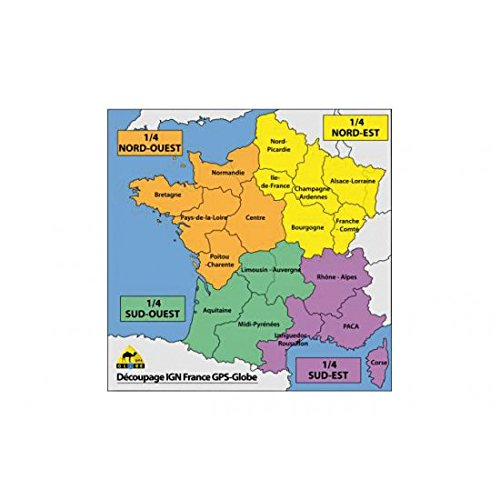 710050 - Carte Ign Gps Globe 1/4 France Sud-Ouest 1/25000E