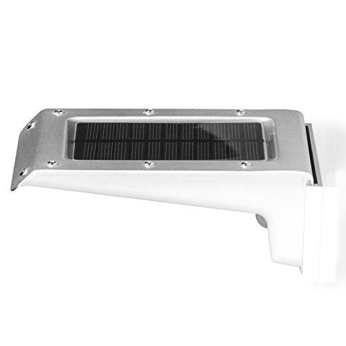 Lychee luminosa 20 LED alimentata solare con sensore di movimento della luce della lampada di induzione di 110 lumen 1W impermeabile e prova di calore della luce di notte Per esterni Scala Veranda Giardino Patio Yard Unità Way illuminazione (Bianco)