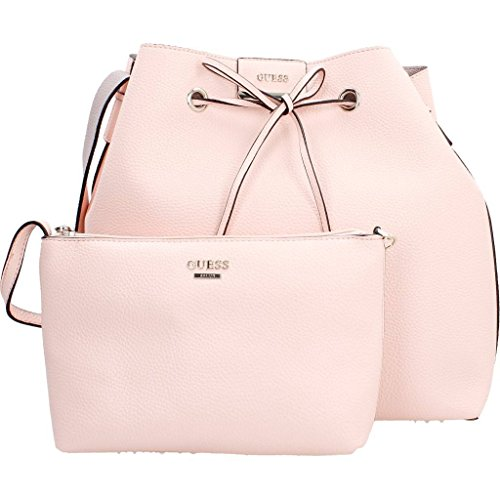 Sacs - Maroquinerie, couleur Rose , marque GUESS, modÚle Sacs - Maroquinerie GUESS BOBBI INSIDE OUT DRAWS Rose Rose