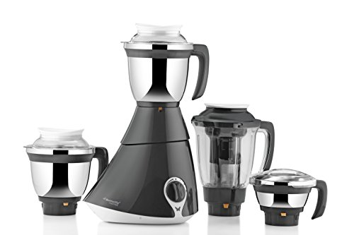 Butterfly Matchless 750-Watt Mixer Grinder with 4 Jars (Gray and White)