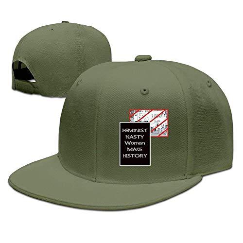 a2a45fc2d8a54 errterfte Feminist Nasty Woman Vote Make History Cap Flat-Along Snapback  Hats Classic Breathable