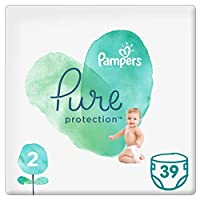 Pampers Pure Protection Diapers, Size 2, 4-8kg, 39 Count