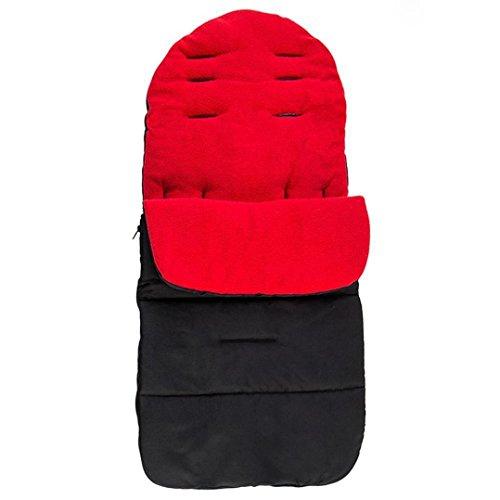 janly® Baby Kinderwagen Fußsack Cosy Toes Schürze Socken Sleep Tasche Hüllen Kinderwagen Gurt auf der Kutsche Beute Winter Warm Herbst 5Farben, rot, Suggested for :0-3 years old baby. (Hülle Gedruckt Ärmelloses)