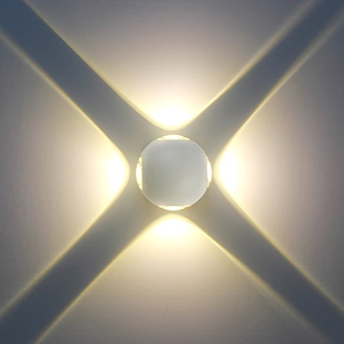 Modern LED Wall Lamp, 12 Watt LED Wall Light Up Down Aluminium Light/Wall Light IP65 Waterproof Lighting 3000 K Warm White for Bedroom, Living Room Corridor (Leuchten 2 Outdoor-bracket)