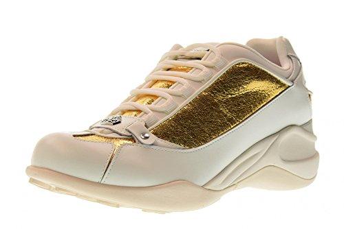 Fornarina scarpe donna sneakers pe18se8922vl91 taglia 38 bianco-oro 58221a4bb5c