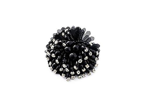 """La Loria - Donna Clip Decorative Per Scarpe """"Sunshine"""" Gioielli, Spille, le clip del pattino in colore nero - 1 Coppia"""