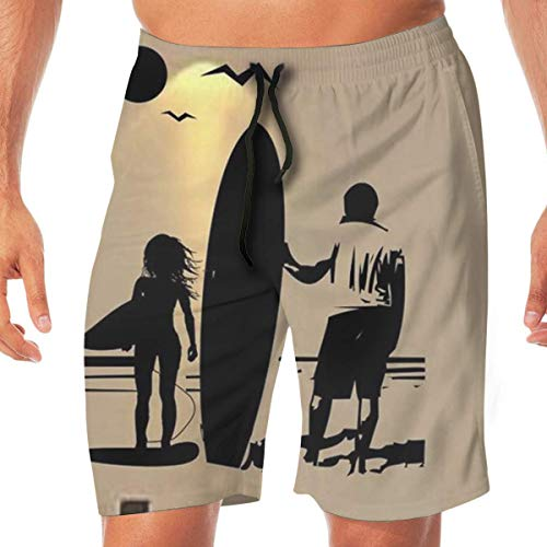 On sunny holidays and hot summers, nothing is more relaxing than surfing, playing and swimming on the beach! Beach shorts/swim pants---fashion art, exquisite craftsmanship, perfect Hawaiian tropical swim trunks, start enjoying your holiday now! Pleas...