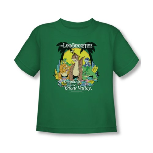 Land Before Time - Kleinkind Great Valley T-Shirt In Kelly Grün, 4T, Kelly Green