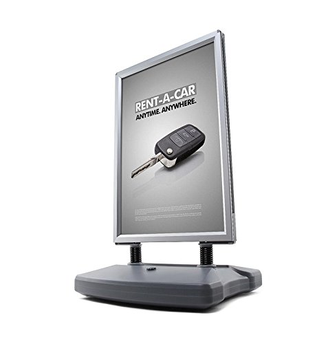 Preisvergleich Produktbild König Werbeanlagen® Kundenstopper Plakatständer DIN A1 stabil mit Wassertank