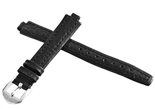 Movado echtem schwarz Uhrenarmband silber Ton Schnalle 6mm x 13,5mm 2029
