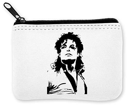 Michael Jackson Fan Artwork Münzen Reißverschluss Geldbörse (Michael Reißverschluss Jackson)