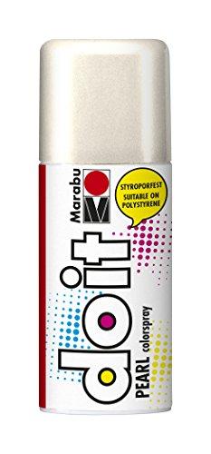 Marabu 21076006270 - Do it Pearl, Colorspray auf Acrylbasis, styroporfest, sehr schnell trocknend, halbdeckend mit zart schimmernder Optik, für helle Untergründe, wetterfest, 150 ml, perlmutt weiß -