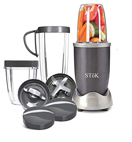 SToK ST-NB01 Nutri Blender/Juicer/Mixer/Grinder with Powerful Motor- 600 W (BPA Free) with 3 Different Size Jars