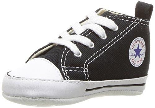 Converse First Star Cvs 022110-12-8, Unisex - Kinder Sneaker, Schwarz (Noir), EU 18 (Sneakers Converse Infant)