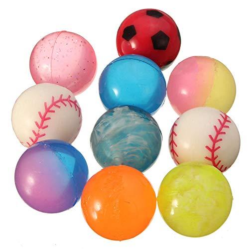 10 palline gonfiabili per bambini, diametro 27 mm, colorate, per riempire la calza della befana, feste e tempo libero