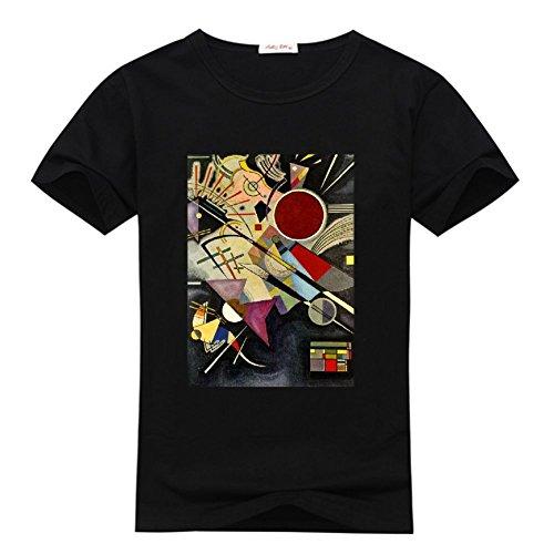 c6d3e95c9db HKdiy Wassily Kandinsky Several Circles Custom Men's Slim Fit T-Shirt