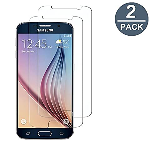 Verre Trempé Samsung Galaxy S6 (Not S6 Edge), [2-Pack] Y-ouni Film Protection -SANS BULLES D'AIR -Ultra Résistant Dureté 9H Protection Terre Trempé Samsung Galaxy S6