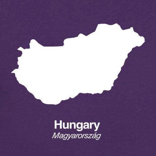 Hungary / Ungarn Silhouette - Herren T-Shirt - 13 Farben Lila