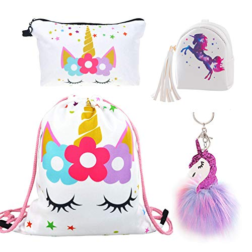 DRESHOW Unicorn Gifts for Girls Mochila cordón/Bolsa